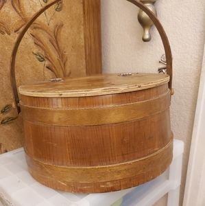 Bobbins and Spools Antique Sewing Basket